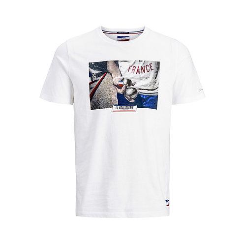 T-shirt Imprimé Photo Blanc - Jack & Jones x La Boulisterie