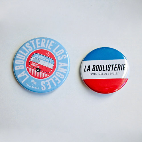 Badges La Boulisterie Pétanque Made in France Bleu Blanc Rouge