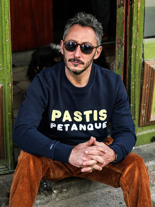 Sweatshirt Pastis Pétanque Marine - Jack & Jones x La Boulisterie