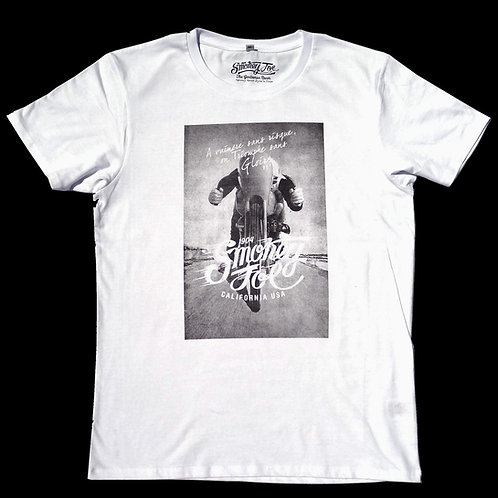 T shirt moto johnny hallyday smokey joe a vaincre sans risque on triomphe sans gloire