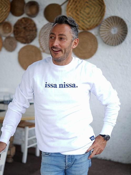 Issa Nissa - Sweatshirt unisexe Blanc