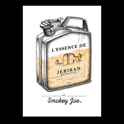 Jerikan x Smokey Joe - Sérigraphie et aquarelle