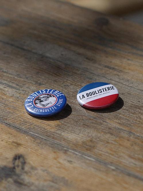 Lot de 2 badges - La Boulisterie
