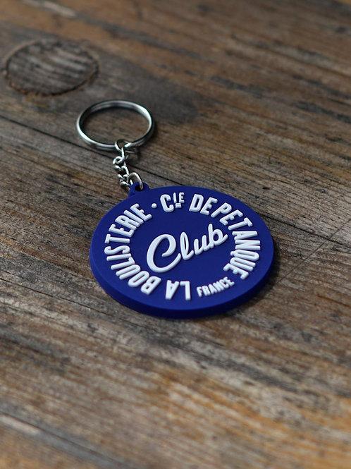 Porte clés PVC bleu - La Boulisterie Club, Cie de pétanque