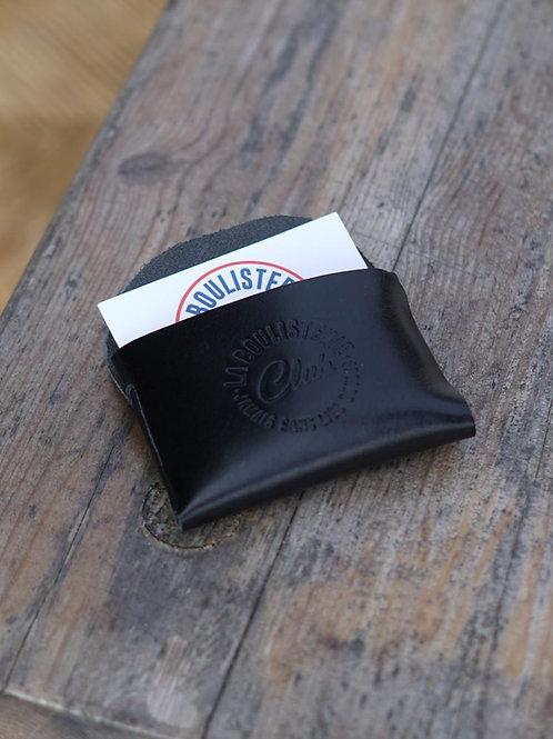 Porte cartes cuir noir - La Boulisterie x La Bouclée