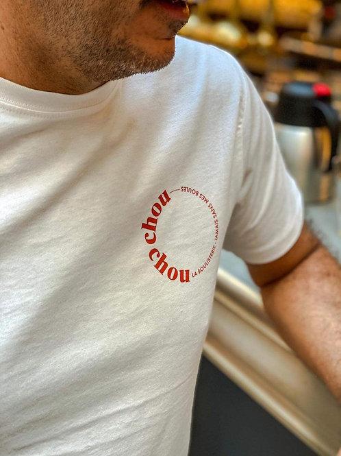 T-Shirt Unisexe Blanc Chouchou Hôtel X La Boulisterie - Vivre d'amour