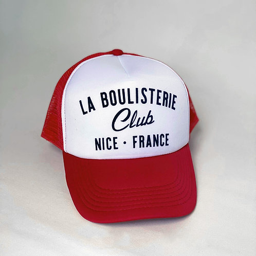 Casquette Trucker La Boulisterie Club - Rouge / Blanc