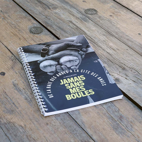 """Carnet à spirales 48 pages Format A5 """"Jamais sans mes boules"""""""
