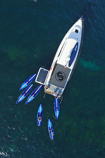 Motor yacht & Paddleboards
