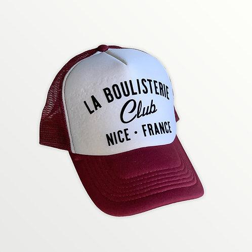 Casquette Trucker La Boulisterie Club - Bordeaux / Blanc / Noir