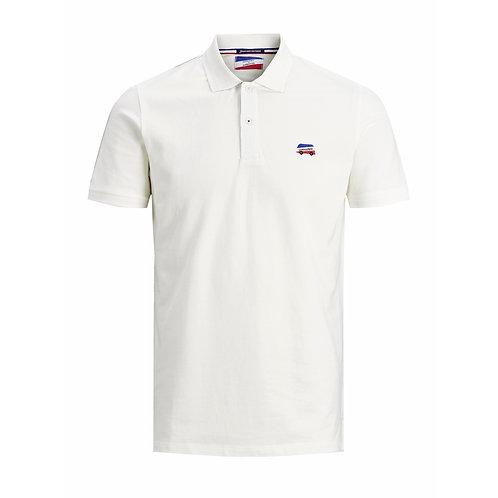Polo de Pétanque Blanc - Jack & Jones x La Boulisterie