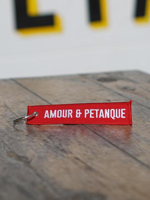 Porte clés tissu - Amour & Pétanque