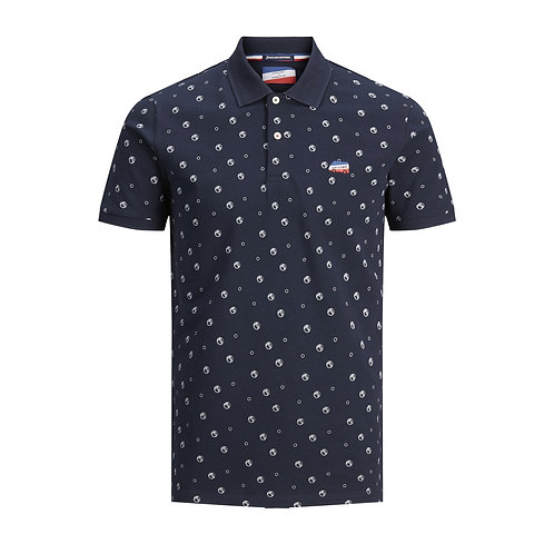 Polo de Pétanque Allover - Jack & Jones x La Boulisterie