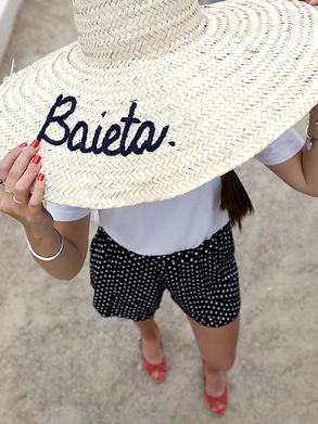 Baieta - Chapeau de paille provencal lar