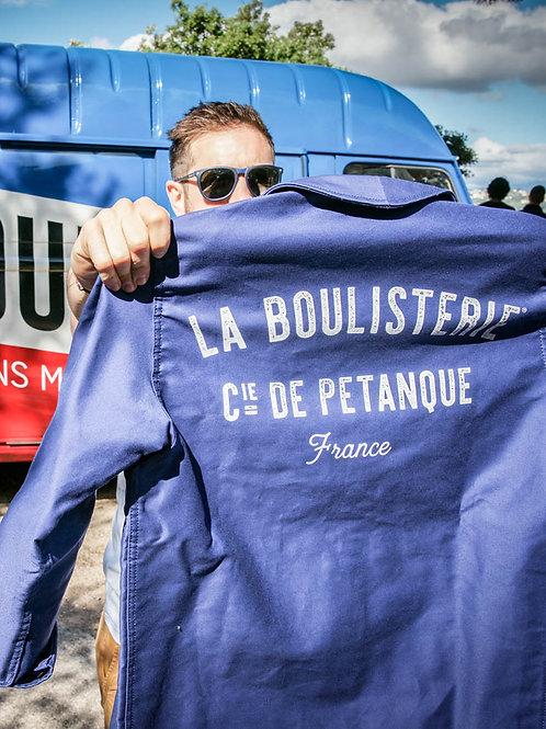 Veste unisexe bleu de travail La Boulisterie