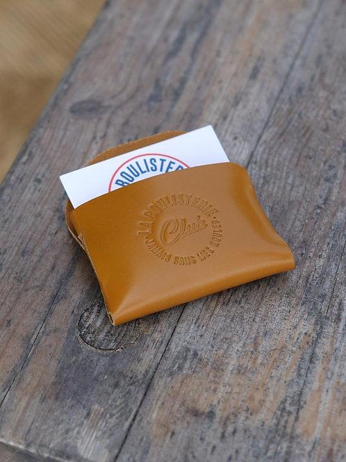 Porte cartes cuir miel - La Boulisterie x La Bouclée