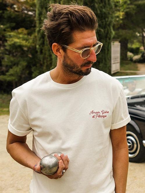 T-shirt Signature Amour, Gloire et Pétanque - Jack & Jones x La Boulisterie