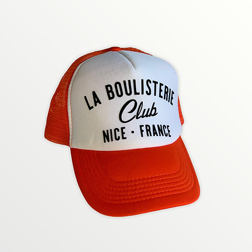 Casquette Trucker La Boulisterie Club - Orange / Blanc / Noir
