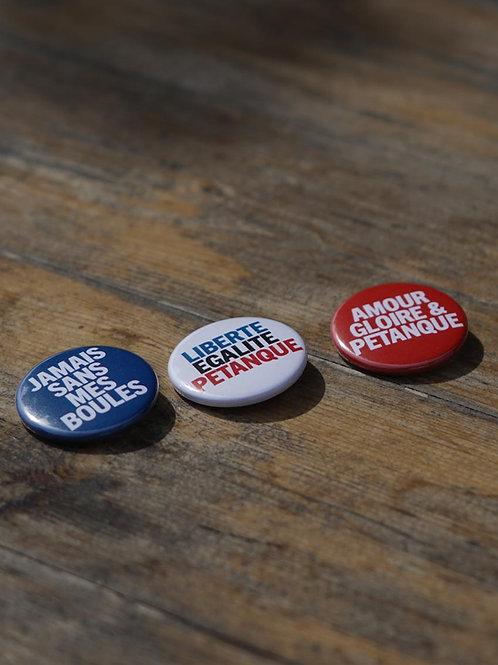 Lot de 3 badges - Les slogans de La Boulisterie