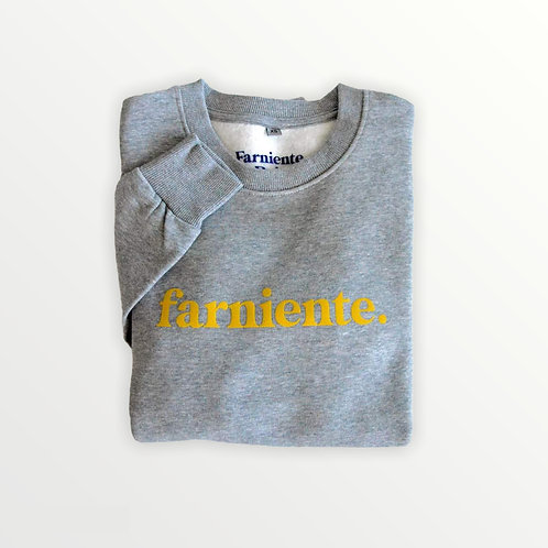 Farniente - Sweatshirt unisexe Gris chiné