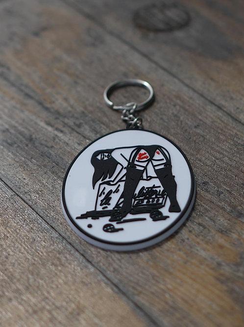 Porte clés PVC - Kiss Fanny