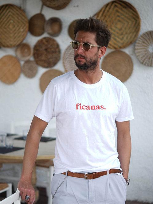 Ficanas - T-shirt unisexe Blanc