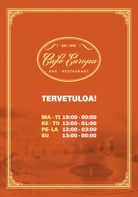 Cafe Europa juliste