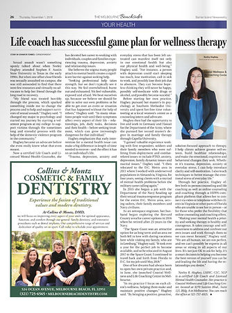 Life coach has successful game plan for wellness therapy article