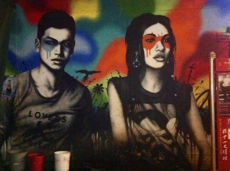 street art two people