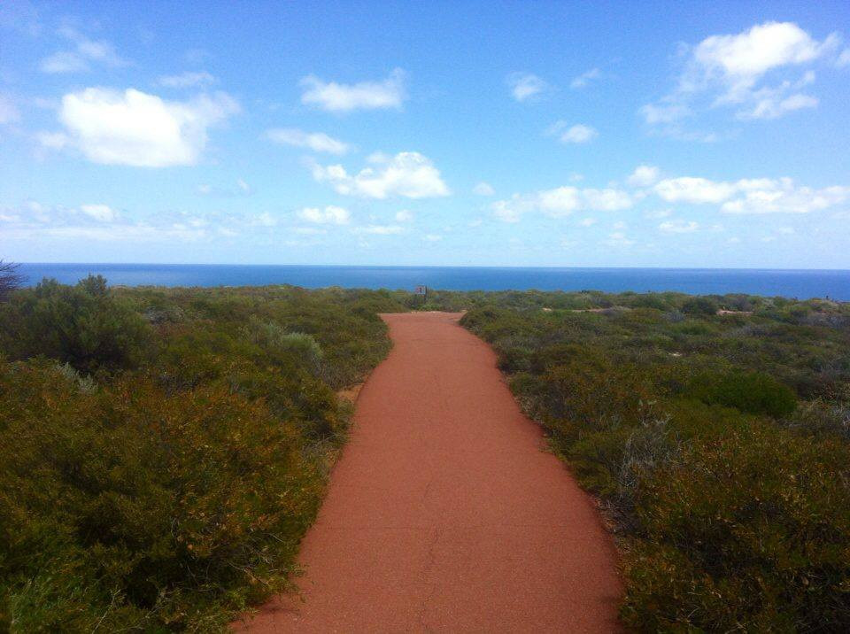red path to the ocean