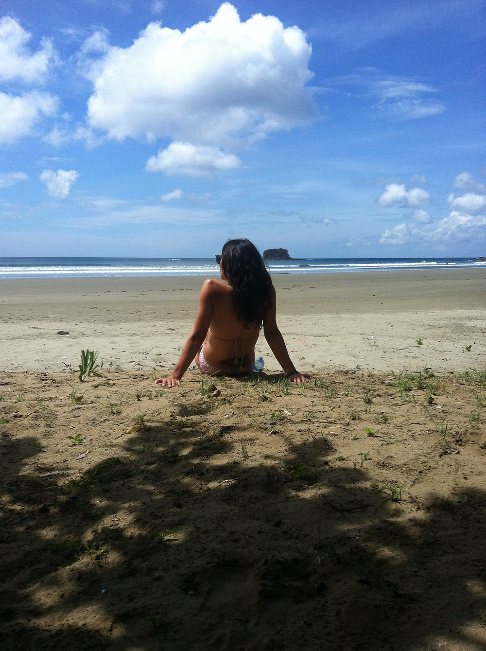 Me on a beach in Nicaragua