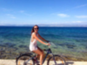 Me on a bike in Croatia