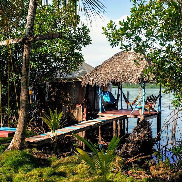 jungle water hut