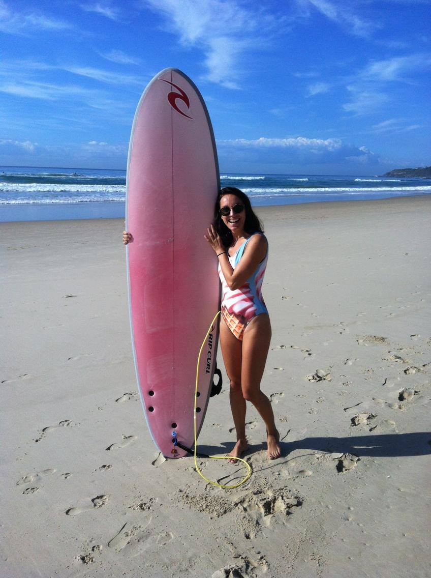 Me with a surfboard
