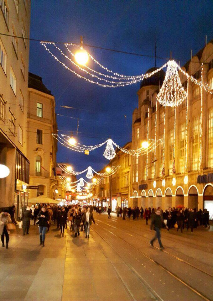 Christmas lights, street