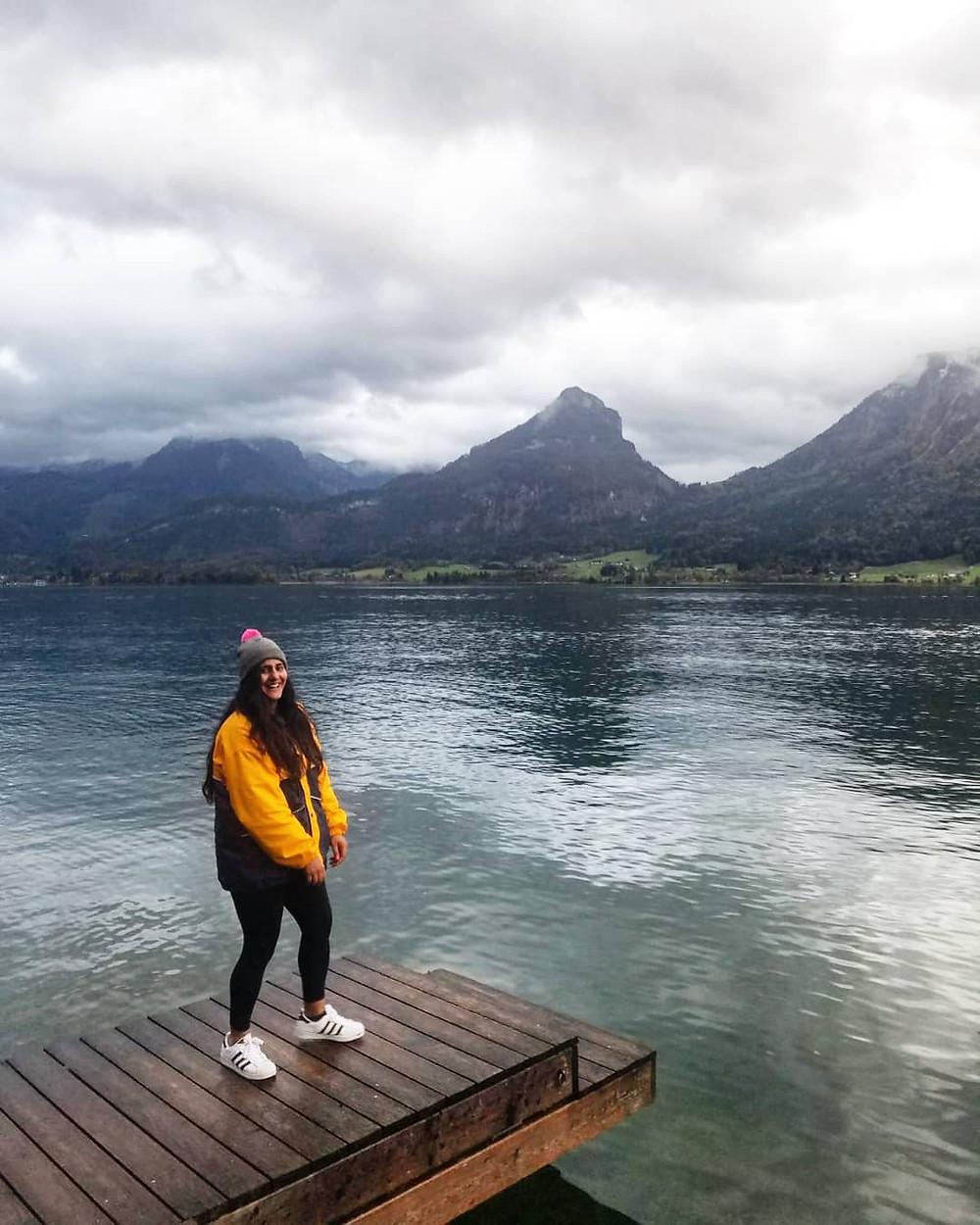 person, lake