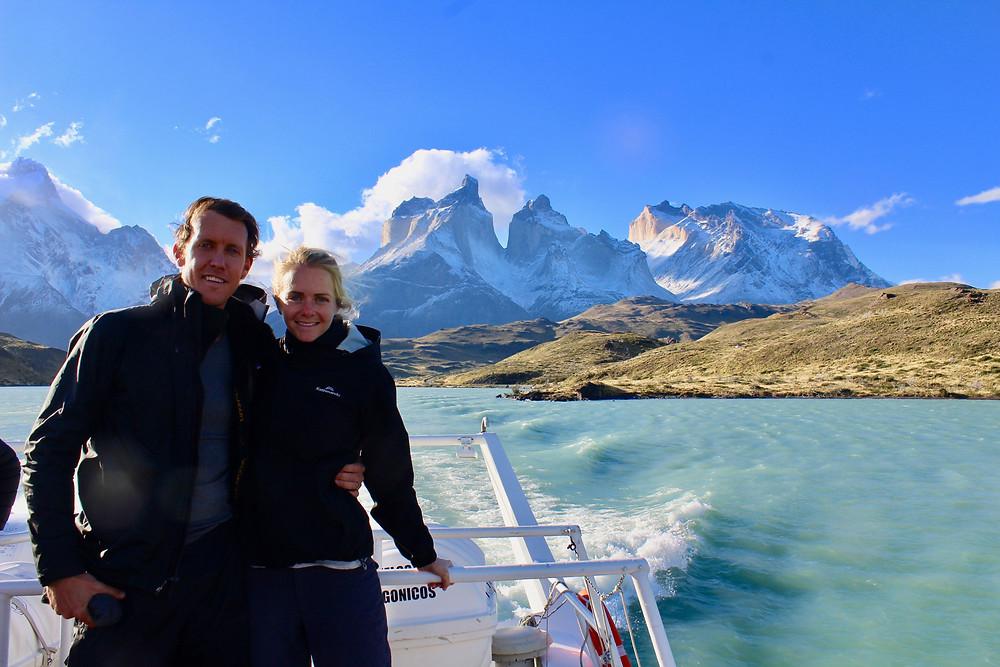 2 people, glacier