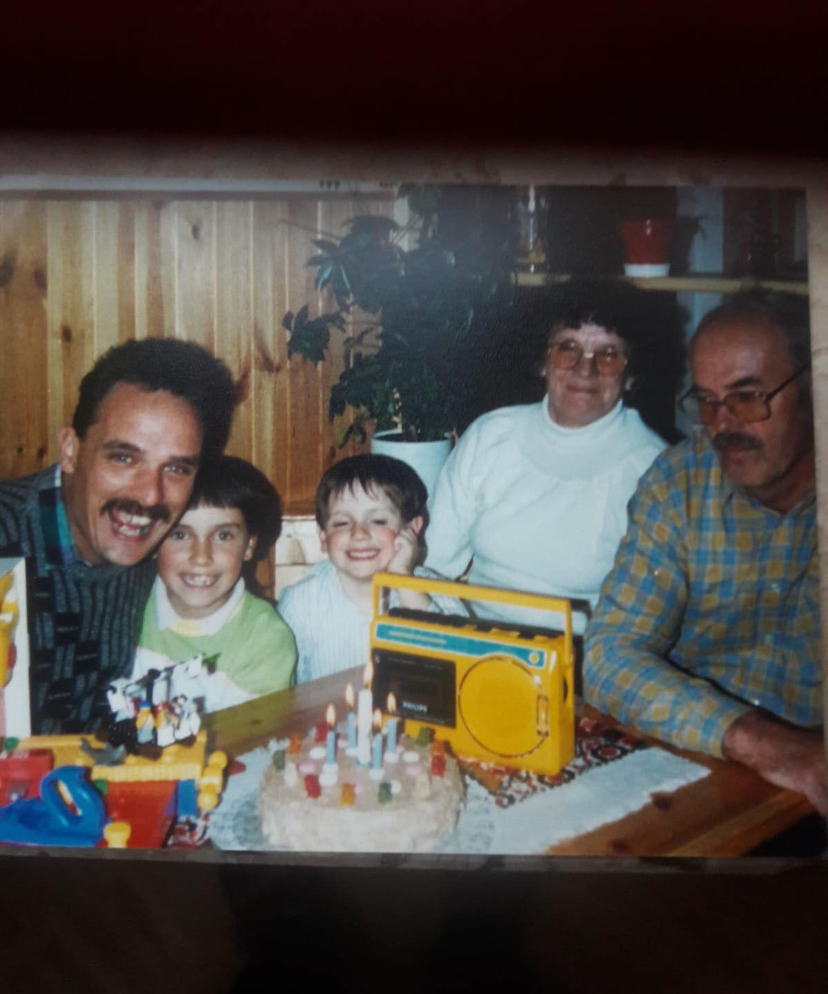 My brother's birthday in the late 80