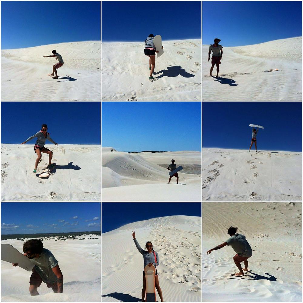 sand dunes, people