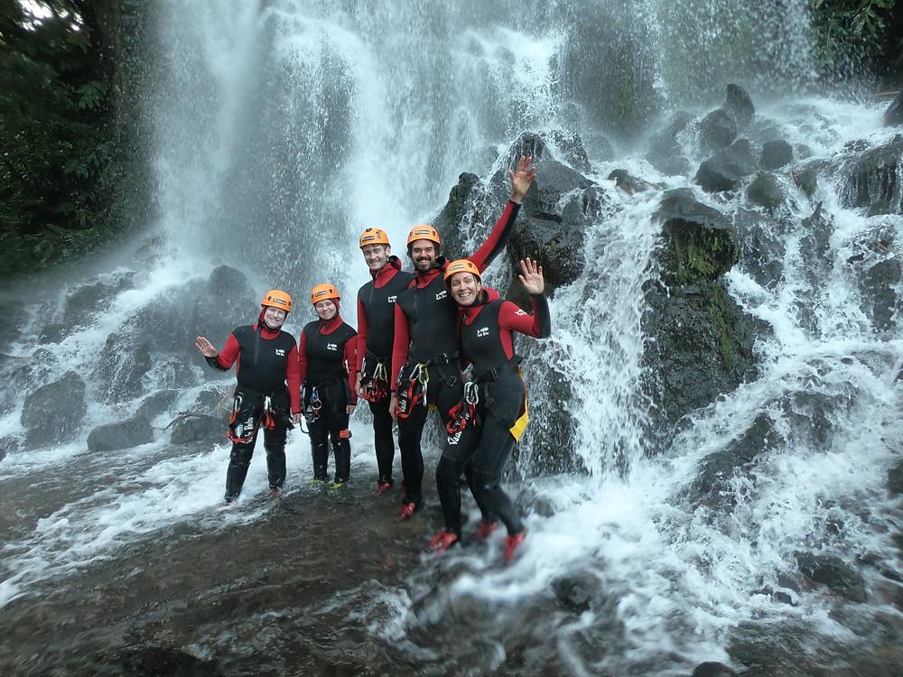 group, waterfall