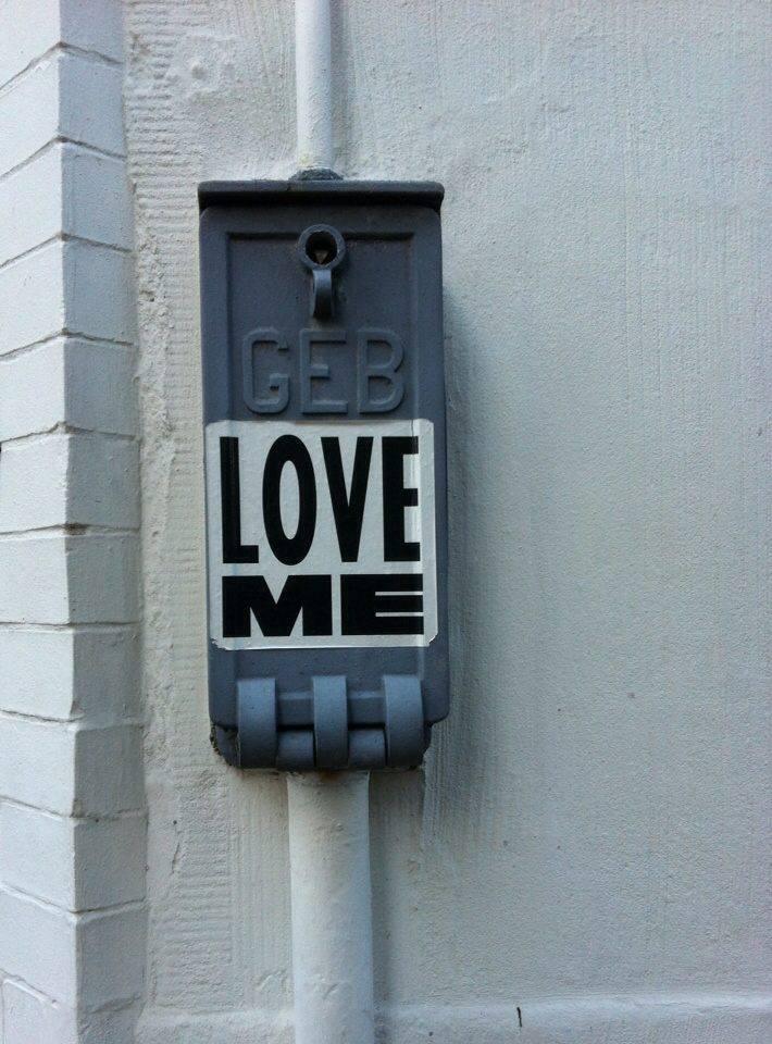 Love Me street art
