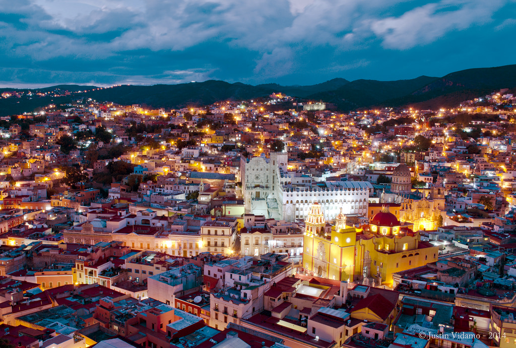 Downtown Guanajuato, MX at night