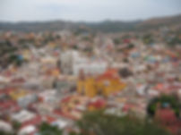 Aerial picture of Downtown Guanajuato, Mexico