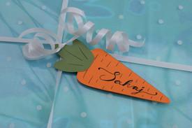 Handmade Carrot Tags