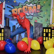 Superhero Backdrop and buildings