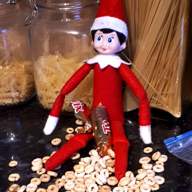 Elf on the shelf is hungry!