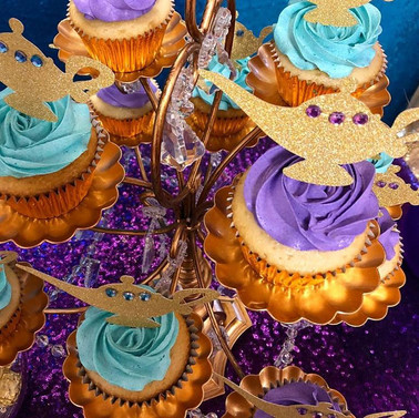 Gold Glitter lamp cake toppers