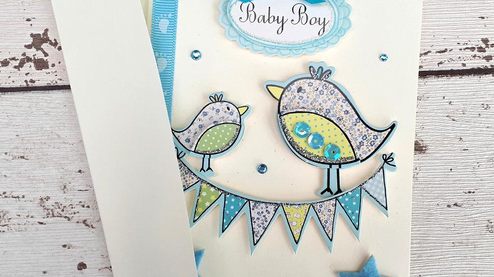 New Baby Boy Handmade Card