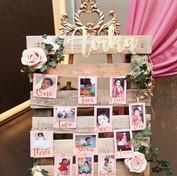 1st Birthday memory board