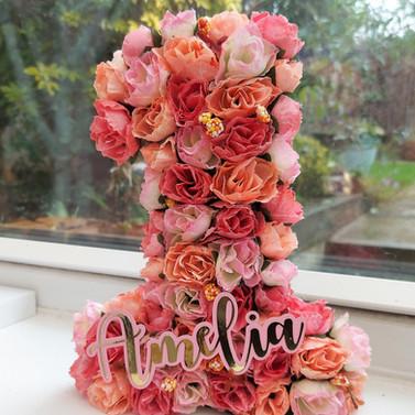 Pink Floral Number 1